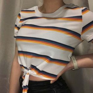 Pacsun stripped tie crop top (on the longer side)
